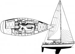 Tartan 35ft 3500 Sloop 1998 YX0100000256